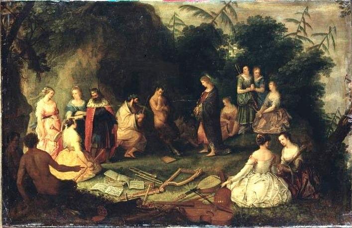 The Judgement of Midas, a painting by Flemish artist Adriaen van Stalbemt, c. 1610.