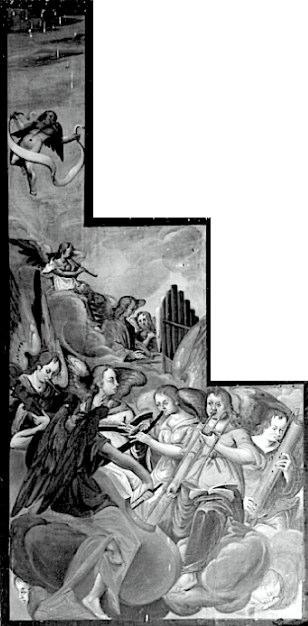 Painting on the left organ shutter in the Bergkirche, Schleiz, Germany, 1638