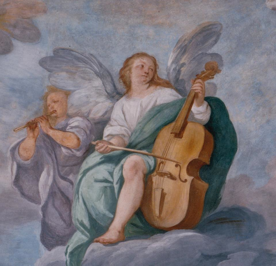 Giuseppe Nuvolone (1619- 1703). Detail of the frescoed vault of the Collegiata di San Lorenzo, Chiavenna (SO).
