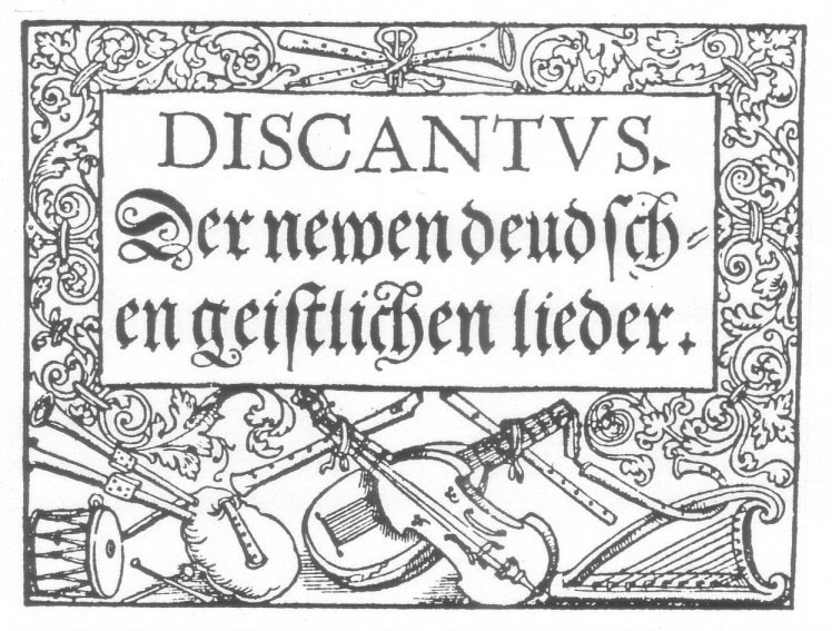 Title page Discantus partbook, Georg Rhau, 1544.