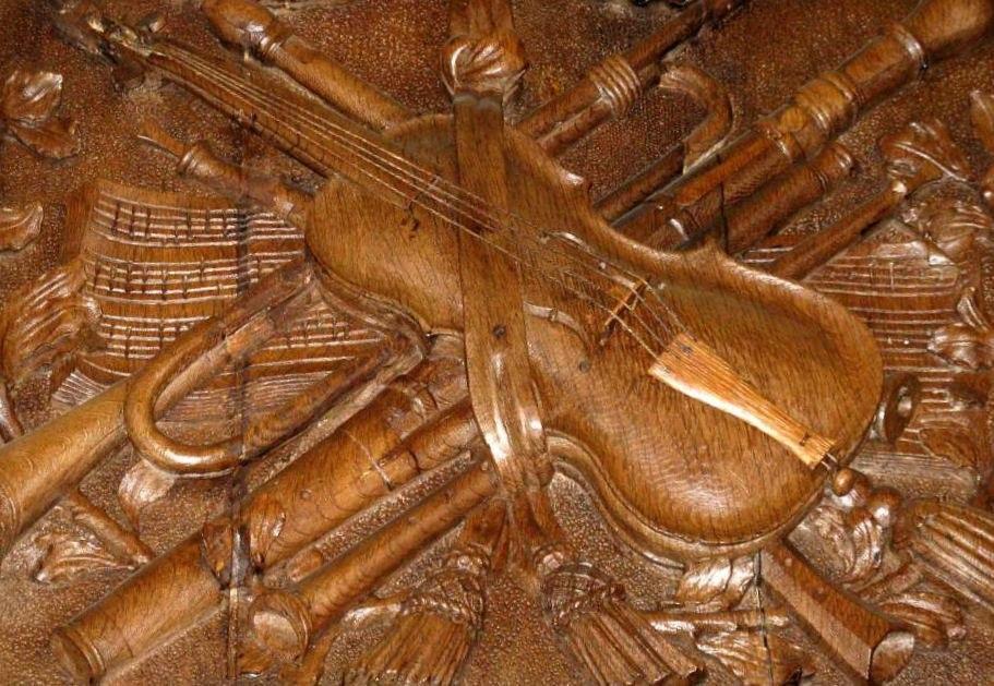 Wooden bas relief in Groningen