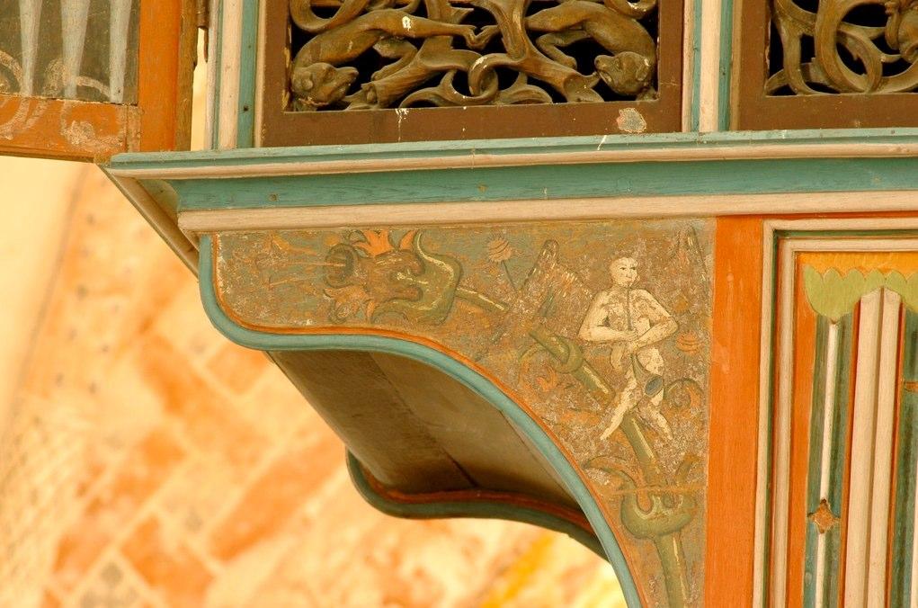 Decoration on an organ case, Krewerd, Province of Groningen
