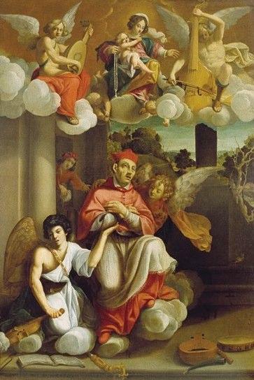 Giovanni Battista Razzani (1603-1666). Estasi of San Guarino