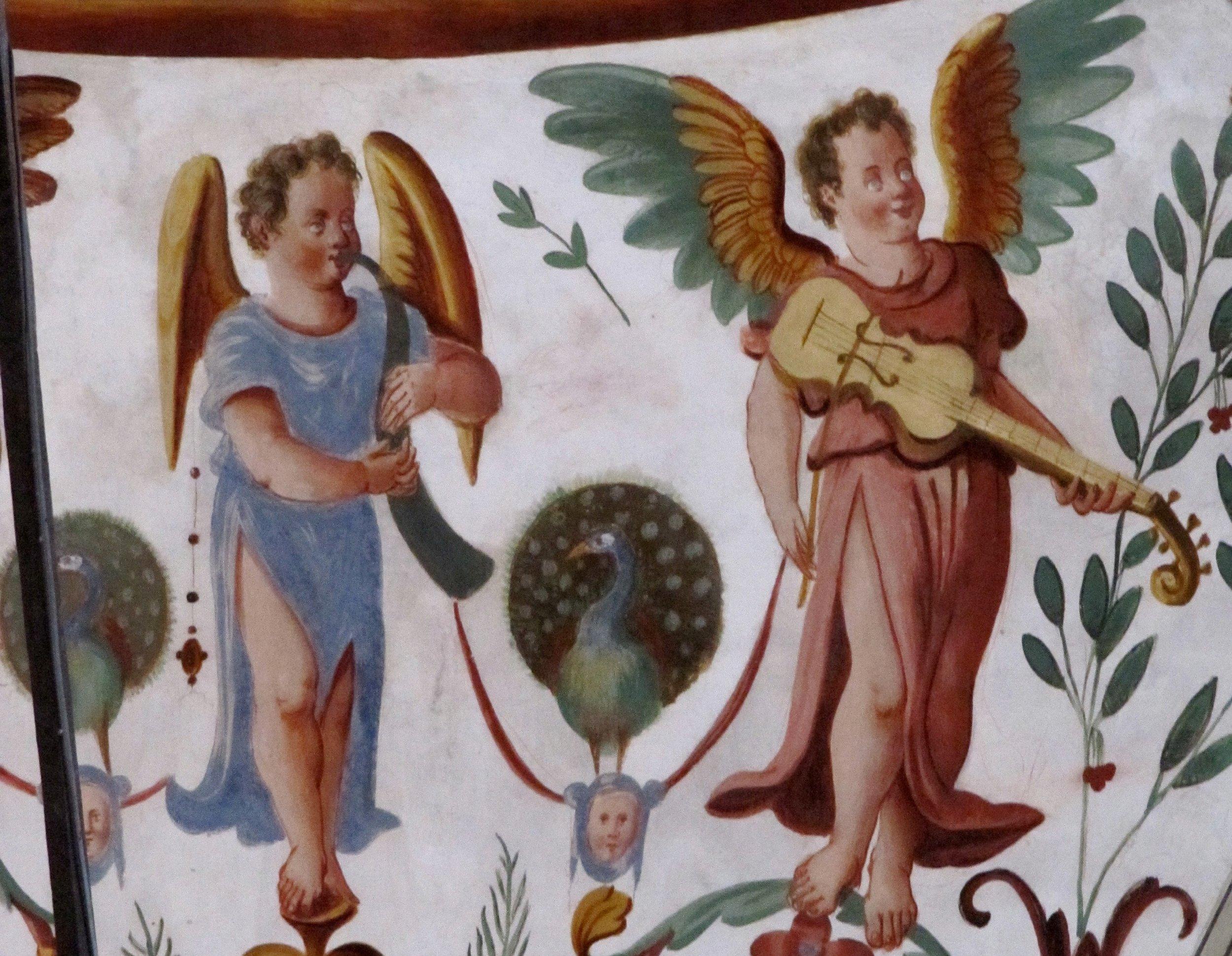 Fresco in the Sacristy of the Church S. Pietro in Ciel d'Oro, Pavia.