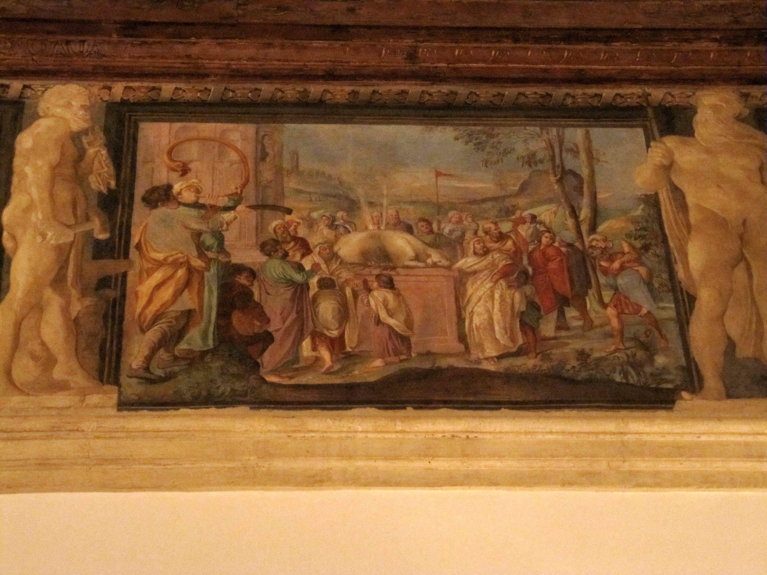 Fresco in Palazzo Fava, Bologna