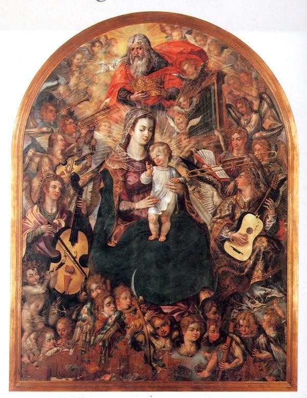 Vasco Pereira Lusitano, Azores, Portugal 1604 Coronation of the Virgin