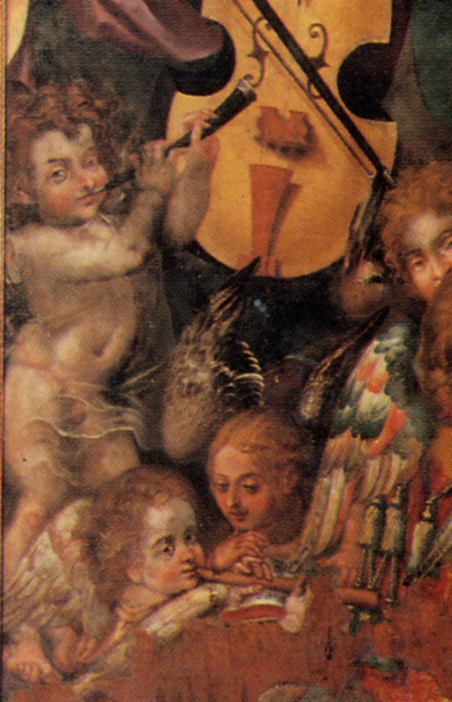 Detail, Vasco Pereira Lusitano, Azores, Portugal 1604 Coronation of the Virgin
