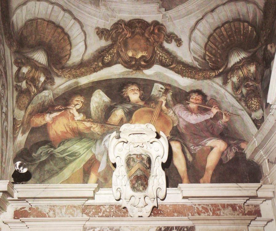 Grazzi chapel of the Santissima Annunziata in Florence. Fresco by Il Volterrano (also known as Baldassare Franceschini and Franceschini Baldassare detto Volterrano), ca. 1644.