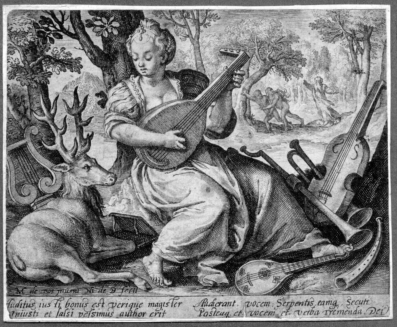 Nic. de Bruyn (born Antwerp 1565 - died Amsterdam 1652) Auditus (Hearing)