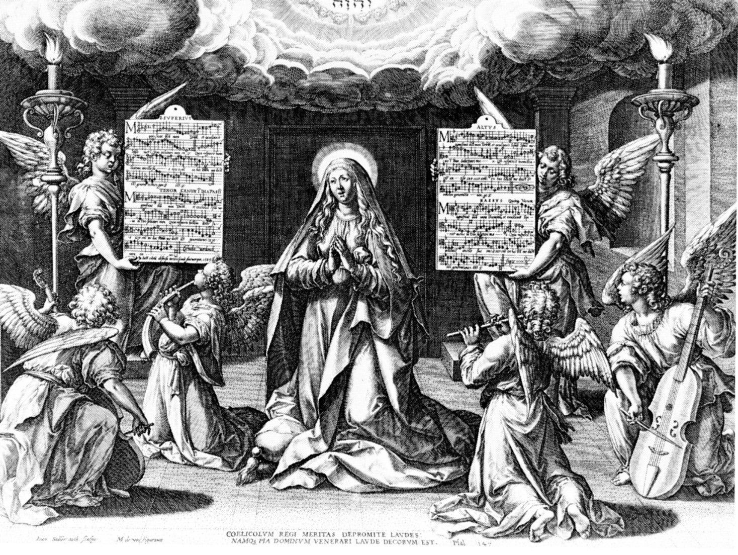 Engraving by Martijn de Vos and Jan Sadeleer Magnificat