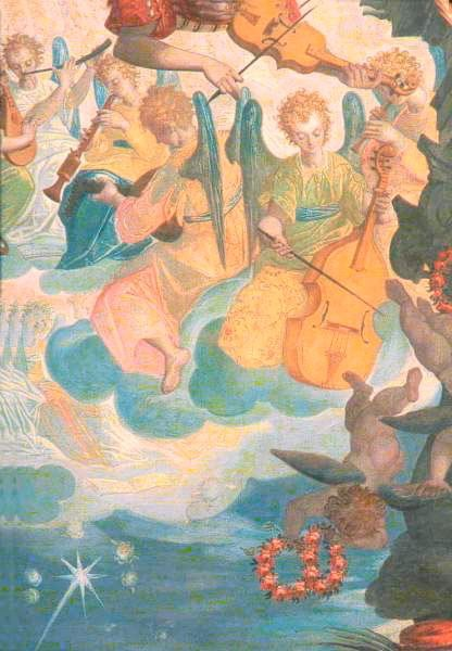Altarpiece, Cosimo Piazza (1557 - ca 1621). Detail.