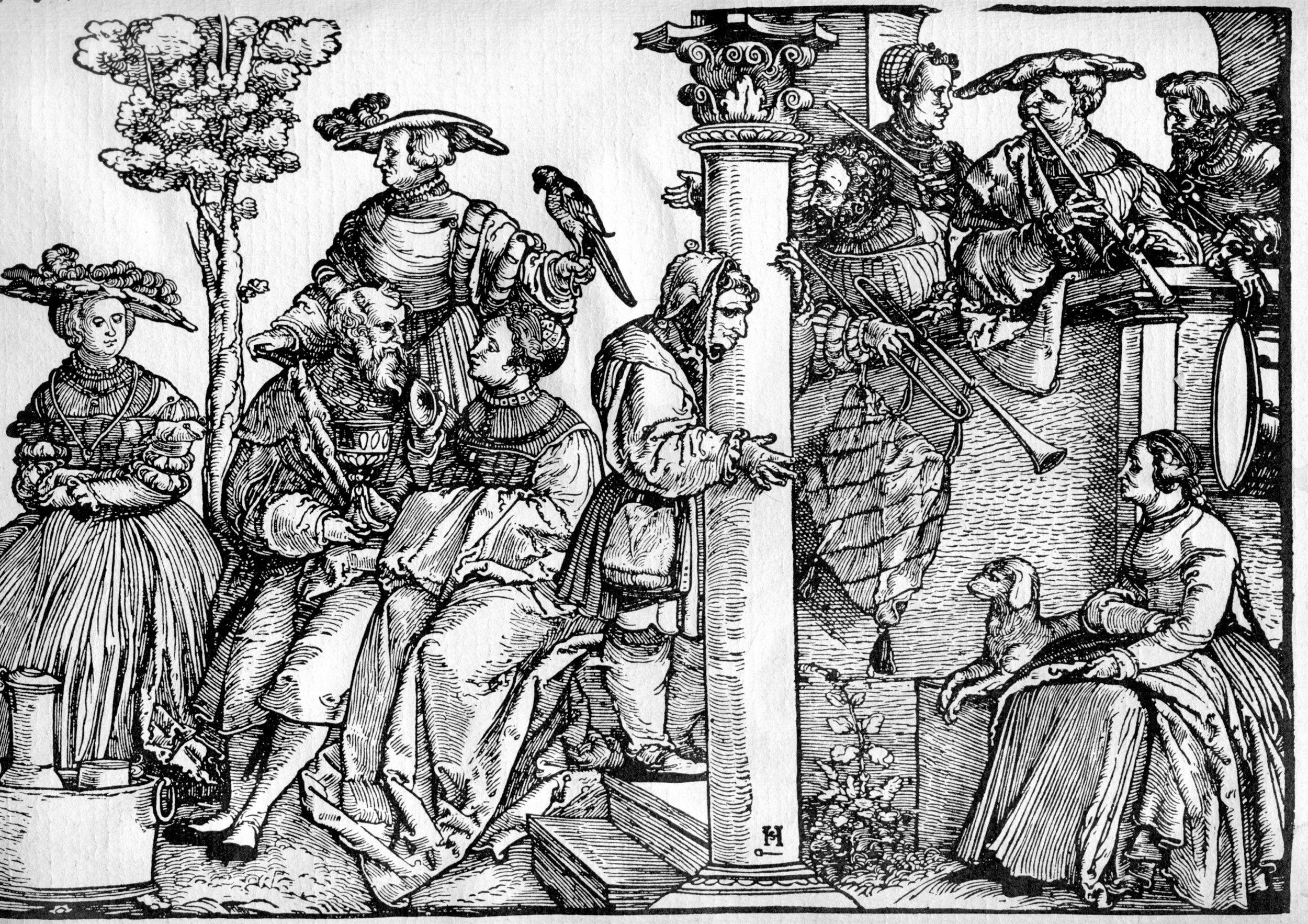 Hans Schäufelein (1480-1540), The Princess's Dance, Berlin, ca. 1535