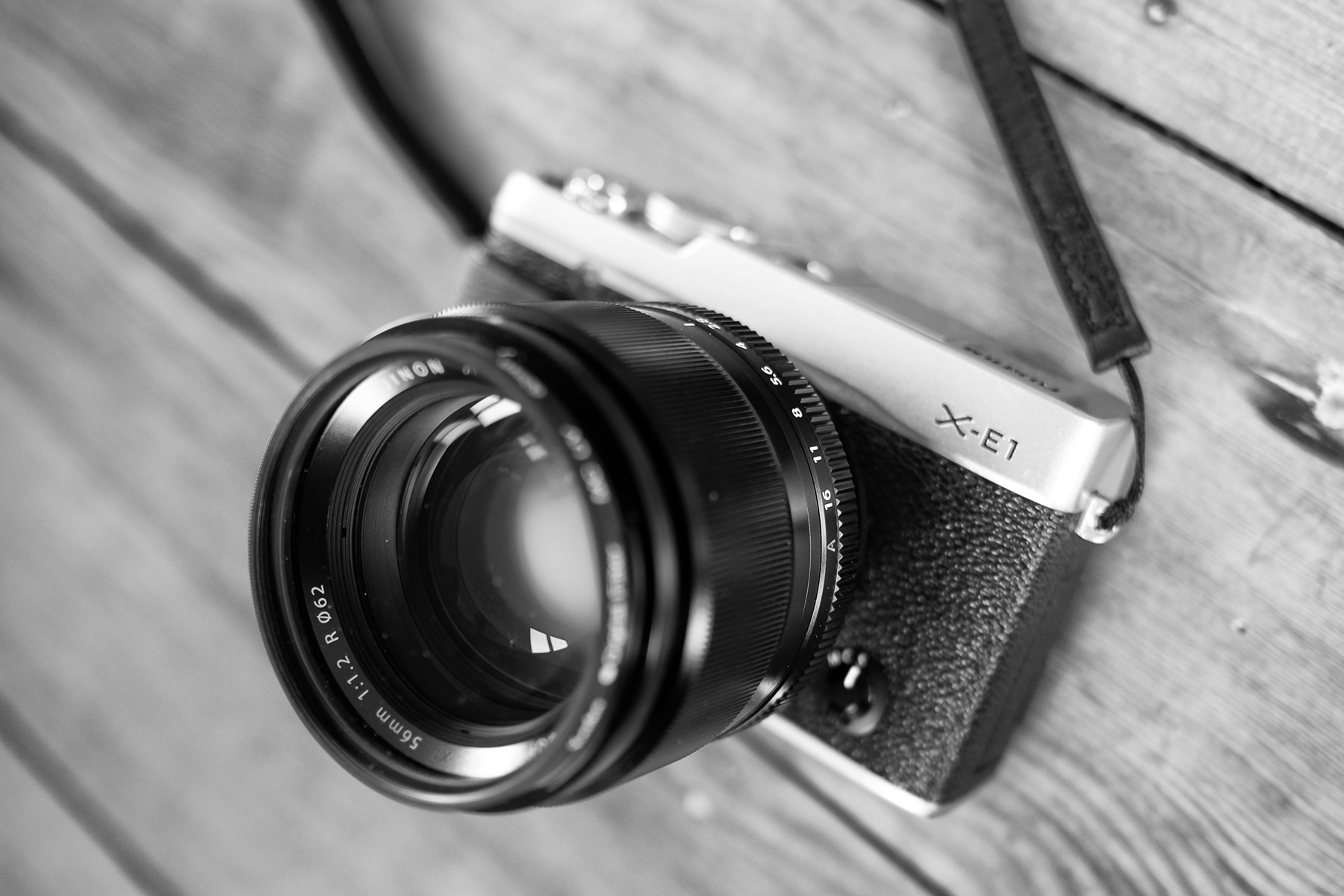 Fuji X-E1 with XF56mm F/1.2 lens