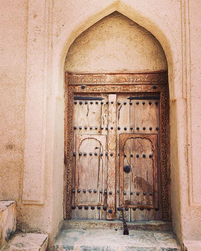 Beautiful old #fort #door in #qantab #oman. #iphone #iphonexr