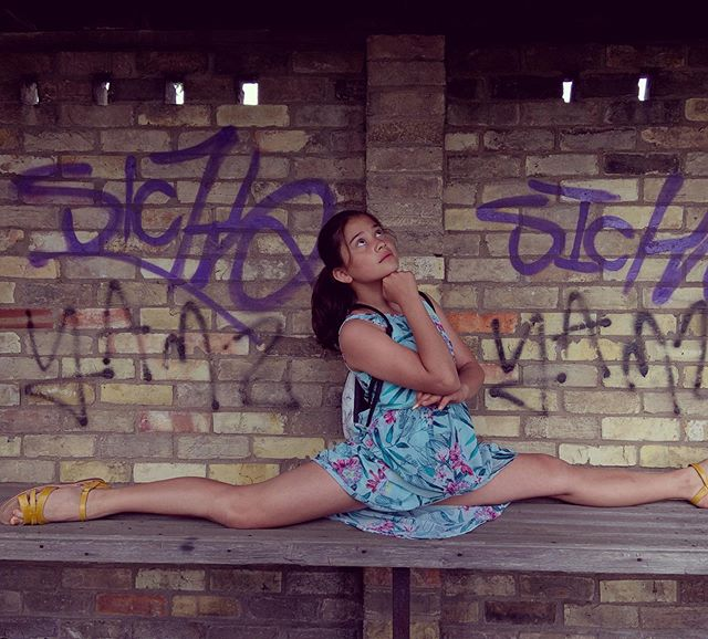 #childhood #graffiti #ballet #jordanmatterstyle #splits