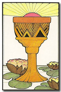 Aquarian Tarot by David Palladini - Ace of Cups