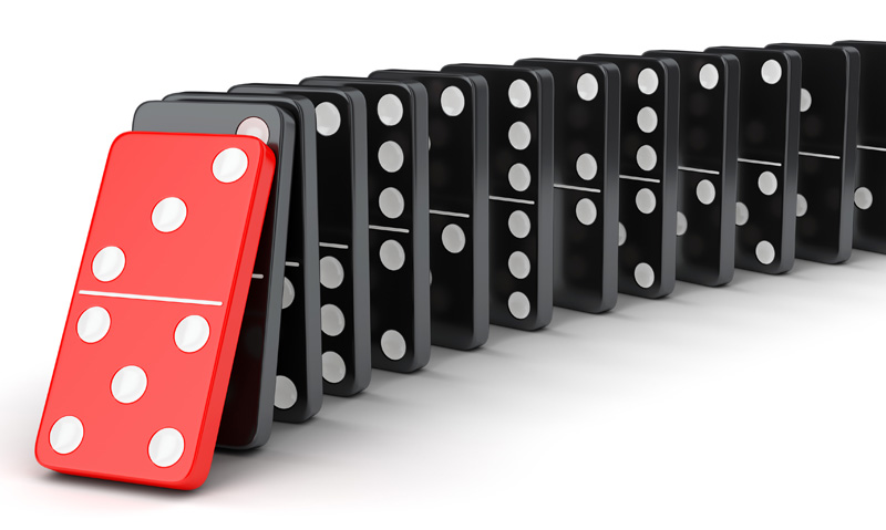 A keystone habit is like that first domino - topple that one and the whole chain starts to go.