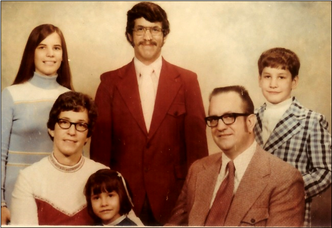 This is a while before that fateful trip to CA - but that's my brother Dave, in that schnazzy plaid jacket.