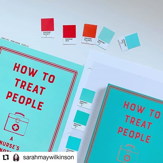 👀 LOOK! 🇺🇸 HOW TO TREAT PEOPLE will soon be out in the States! 🗽 and look how beautiful she looks! Thank you @sarahmaywilkinson @w.w.norton  #Repost @sarahmaywilkinson with @kimcy929_repost • • • • • • #Repost @sarahmaywilkinson with @kimcy929_repost • • • • • • I love my job ❤️ so it's hard to pick a favorite part BUT I do really love finding the perfect @pantone The reading part is pretty great too! HOW TO TREAT PEOPLE, a memoir of sorts by MOLLY CASE @mollycasespeaks is woah! so good! A practicing nurse, writer, and artist, Case takes you back to some of her most profound moments as a person working in a tremendously difficult world that seems to demand she be all the things: magical healer, confidante, custodian...I highly recommend this book & I give thanks to the hardworking folks in healthcare.
