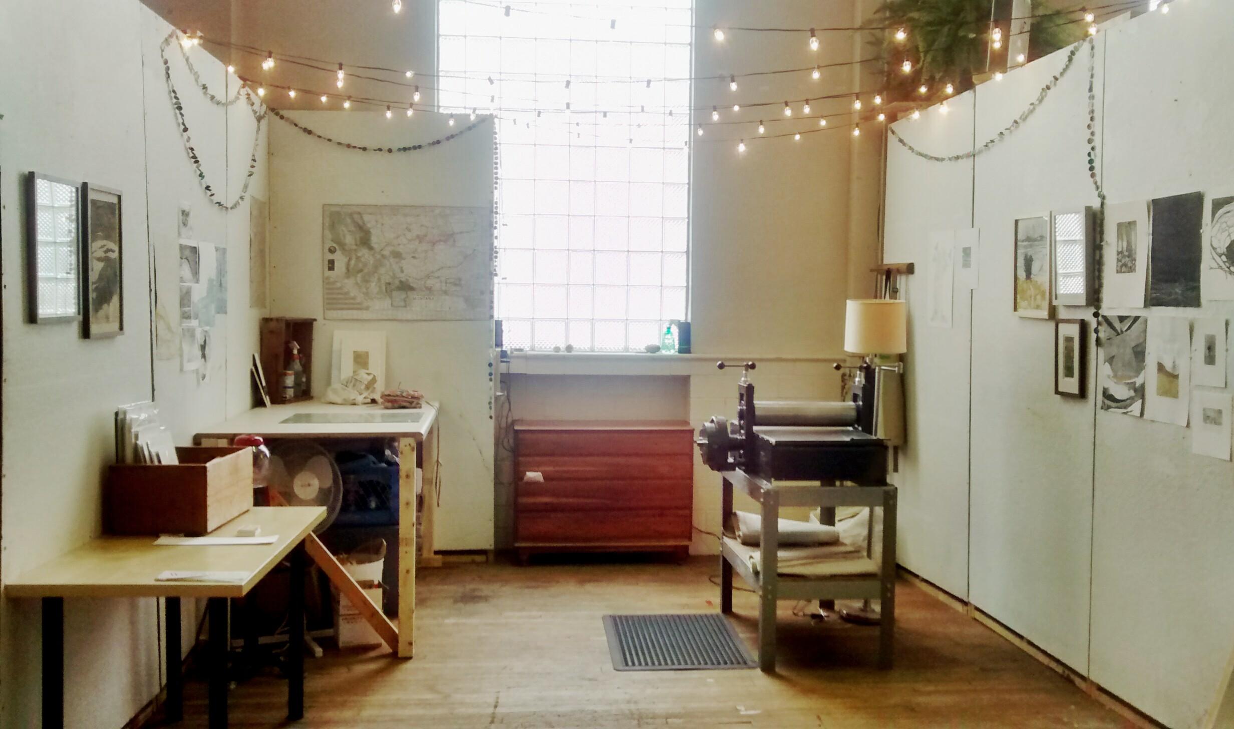 Elizabeth Claire Rose's Pittsburgh studio.