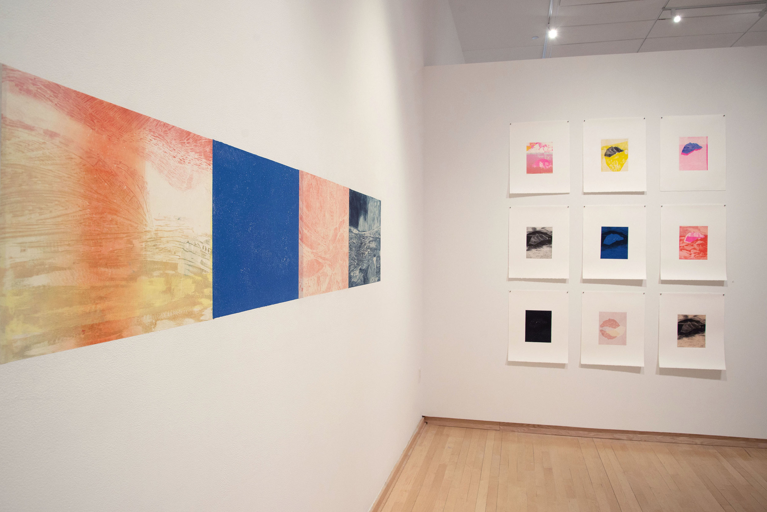 Latitudinal + Place Shift Installation View