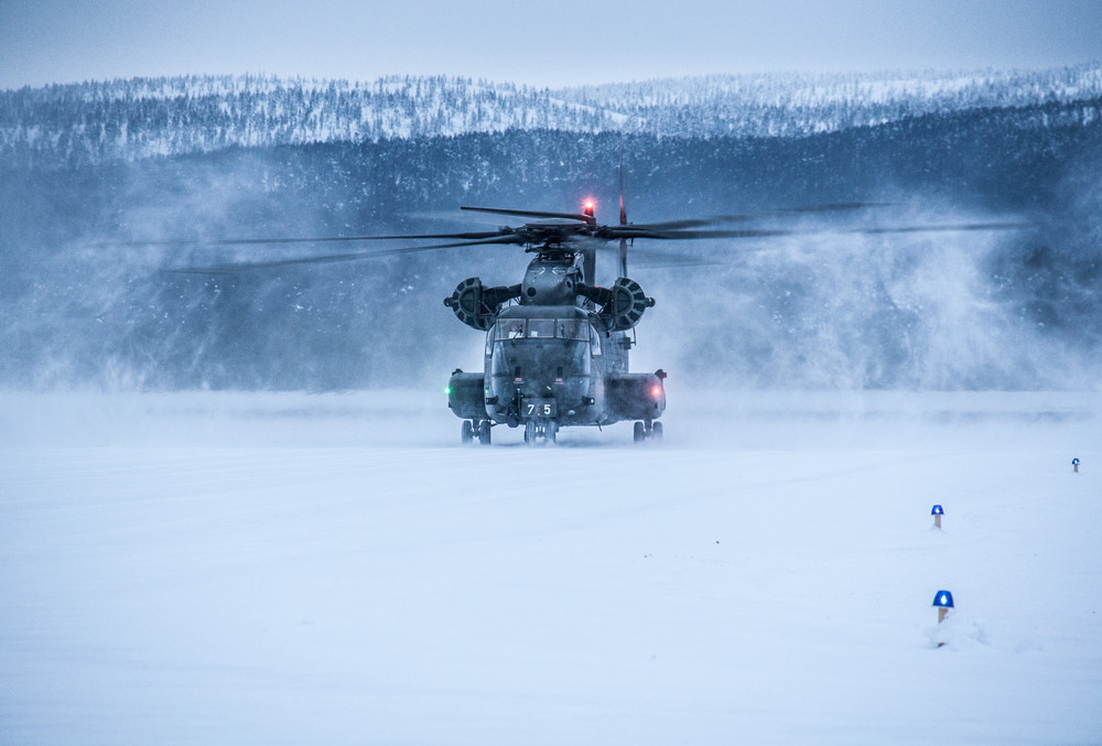 Although temperatures during the exercise weren't as frigid as originally expected, German crews were able to test themselves and their airframes in cold and snowy conditions.