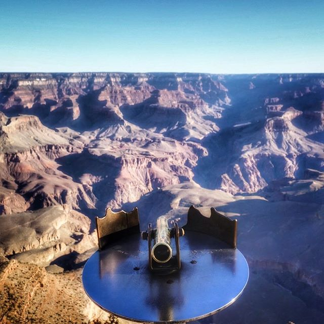 Putting things in perspective at the #GrandCanyon #NationalPark - somewhere down there is the #ColoradoRiver | #arizona #southrim #southrimtrail #naturephotography #outdoorphotography #matherpoint #amazingscenery #america #grandcanyonnationalpark #lightandshadow