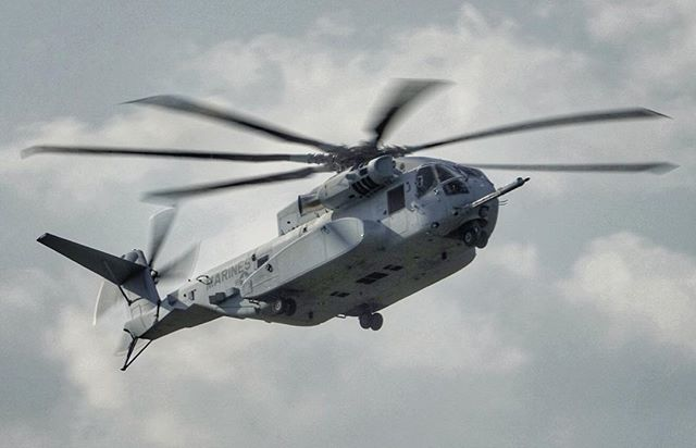 """The undisputed """"King"""" of #ILA2018 - The #Sikorsky #CH53K #KingStallion #Helicopter during its international debut 