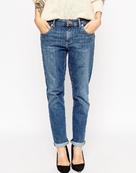 Straight leg/boyfriend jeans  here  and  here ! I like these for when my tops are on the shorter side.