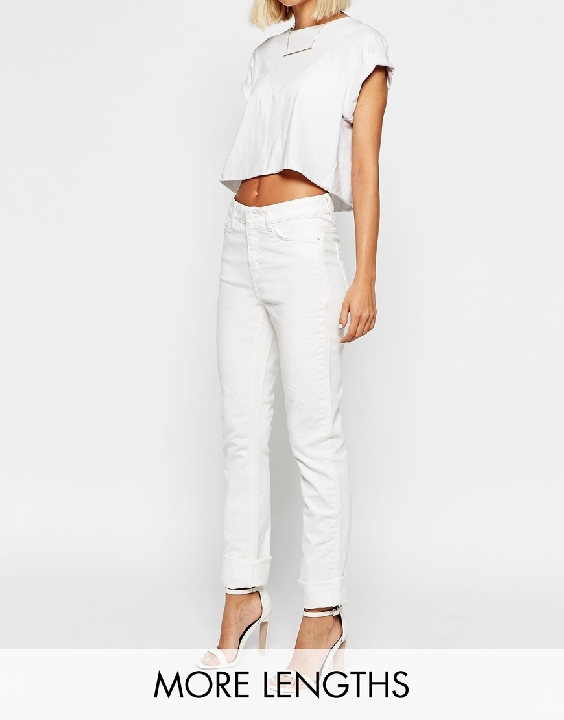 White jeans!  These  are straight leg :)