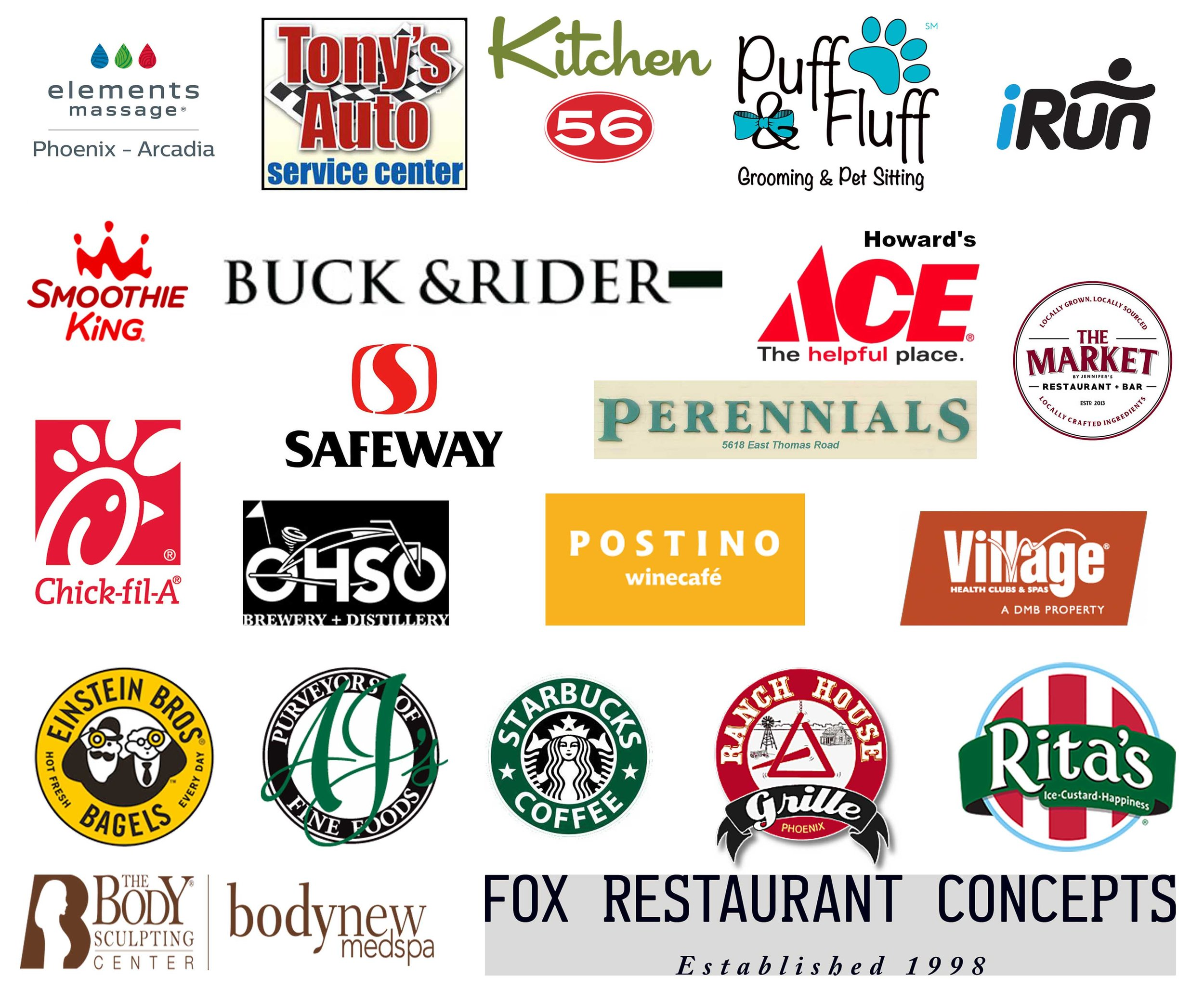 These local businesses provided over $2000 in door prizes for the Arcadia Annual Neighborhood Meeting. Please thank them when you visit their business.