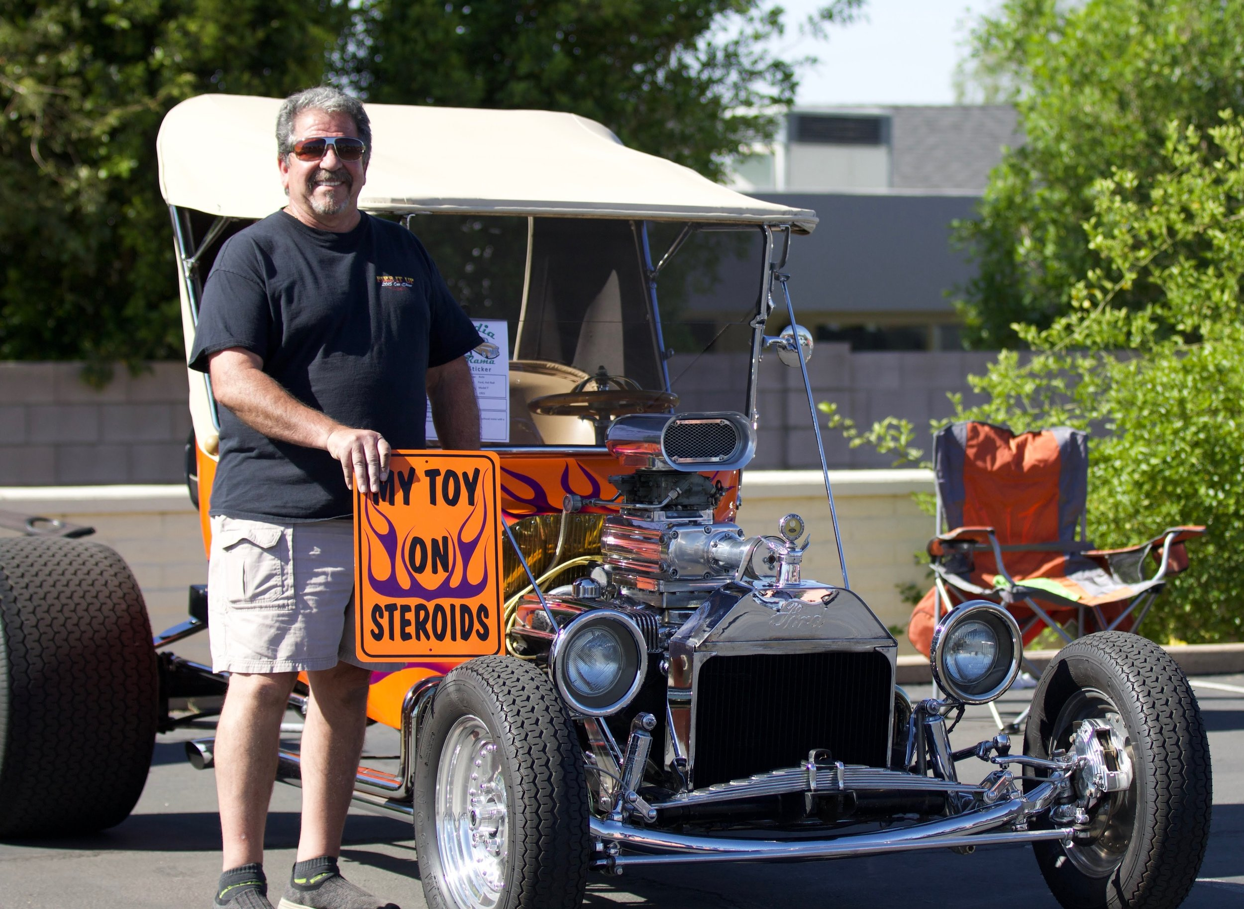 "George Celotti and his 1915 Model ""T"" Hot-rod"