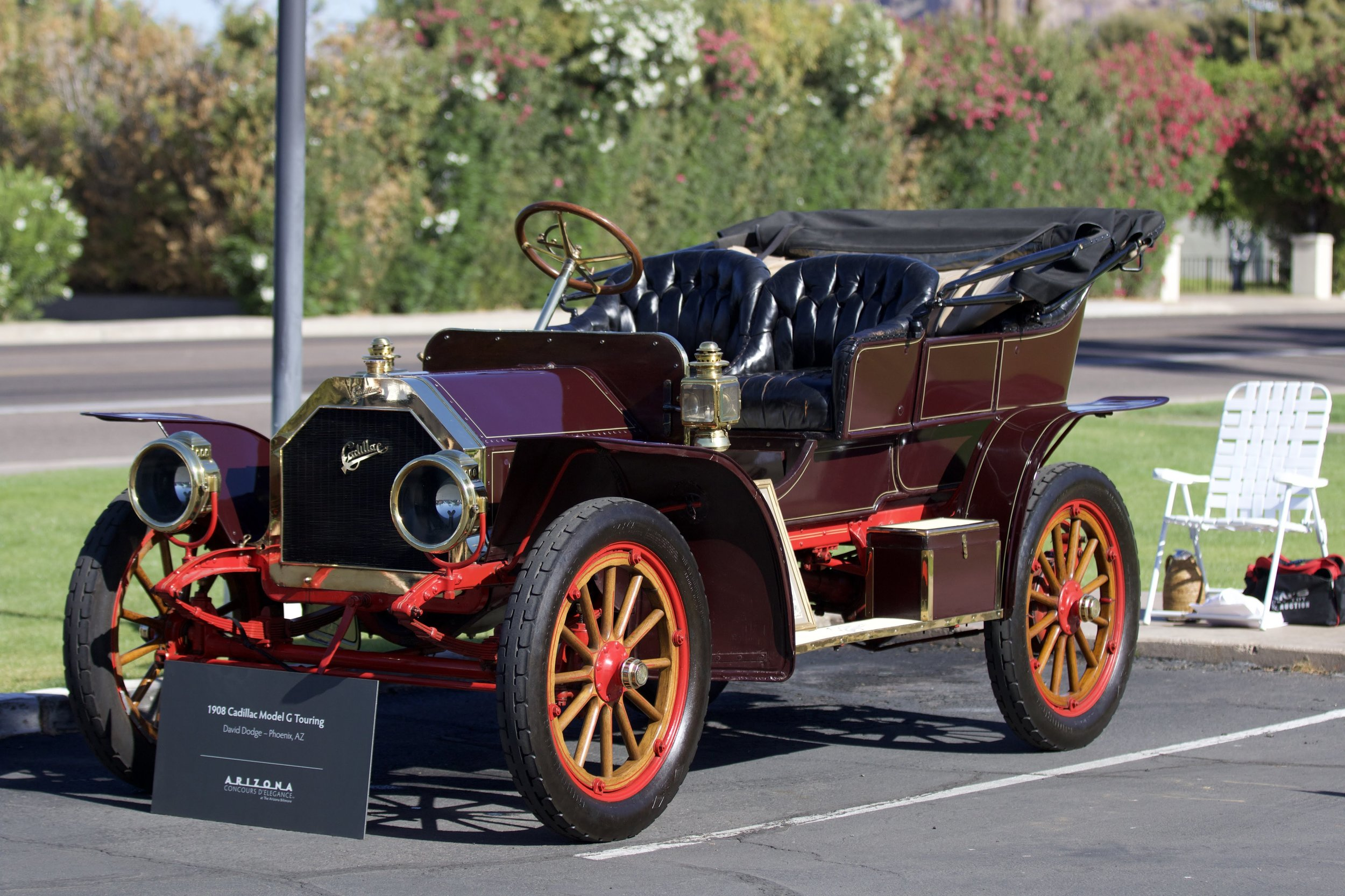 This 1908 Cadillac Touring car owned by David Dodge of Arcadia has been in the Dodge family for 110 years now.