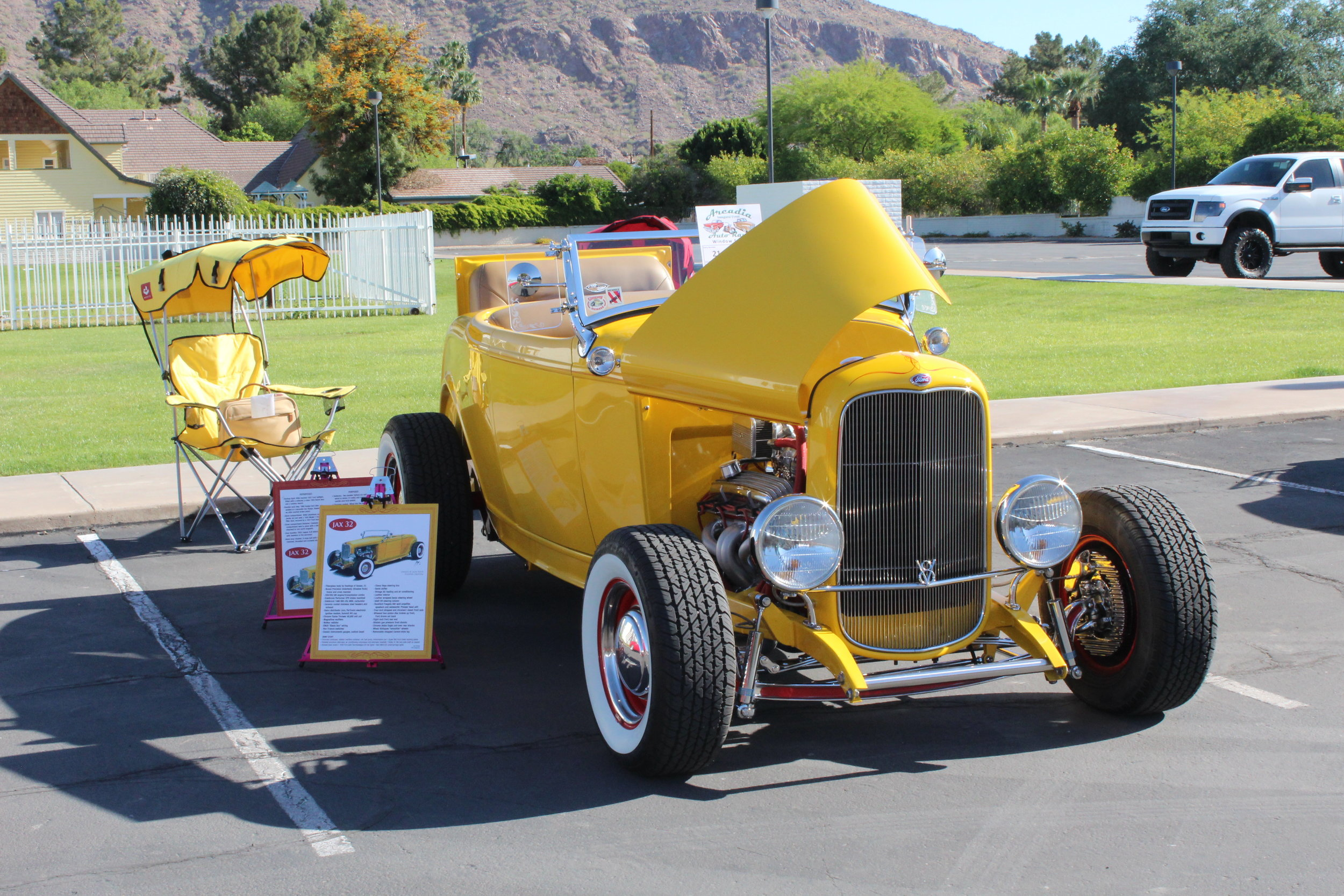 Best in Arcadia - a 1932 roadster hot-rod. Owned by Jack Nock