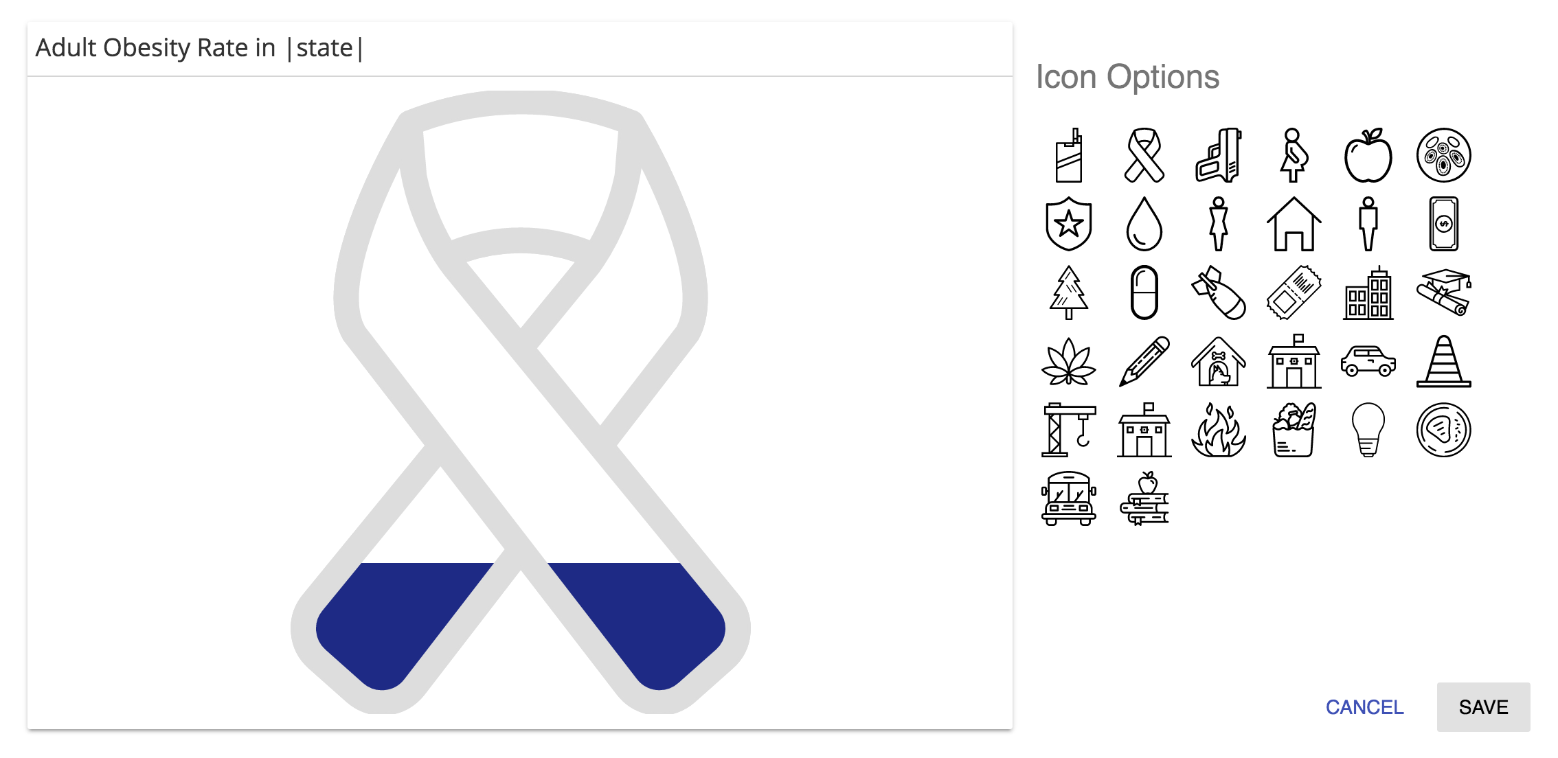 """Whimsical icons can take the place of """"donut charts"""" for showing percentages."""