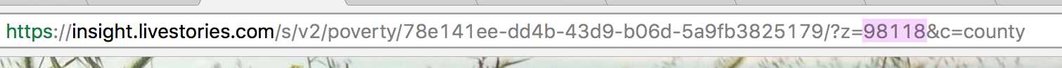 Replace the 5-digit number at the end of the URL with your local zip code to see data for your county.