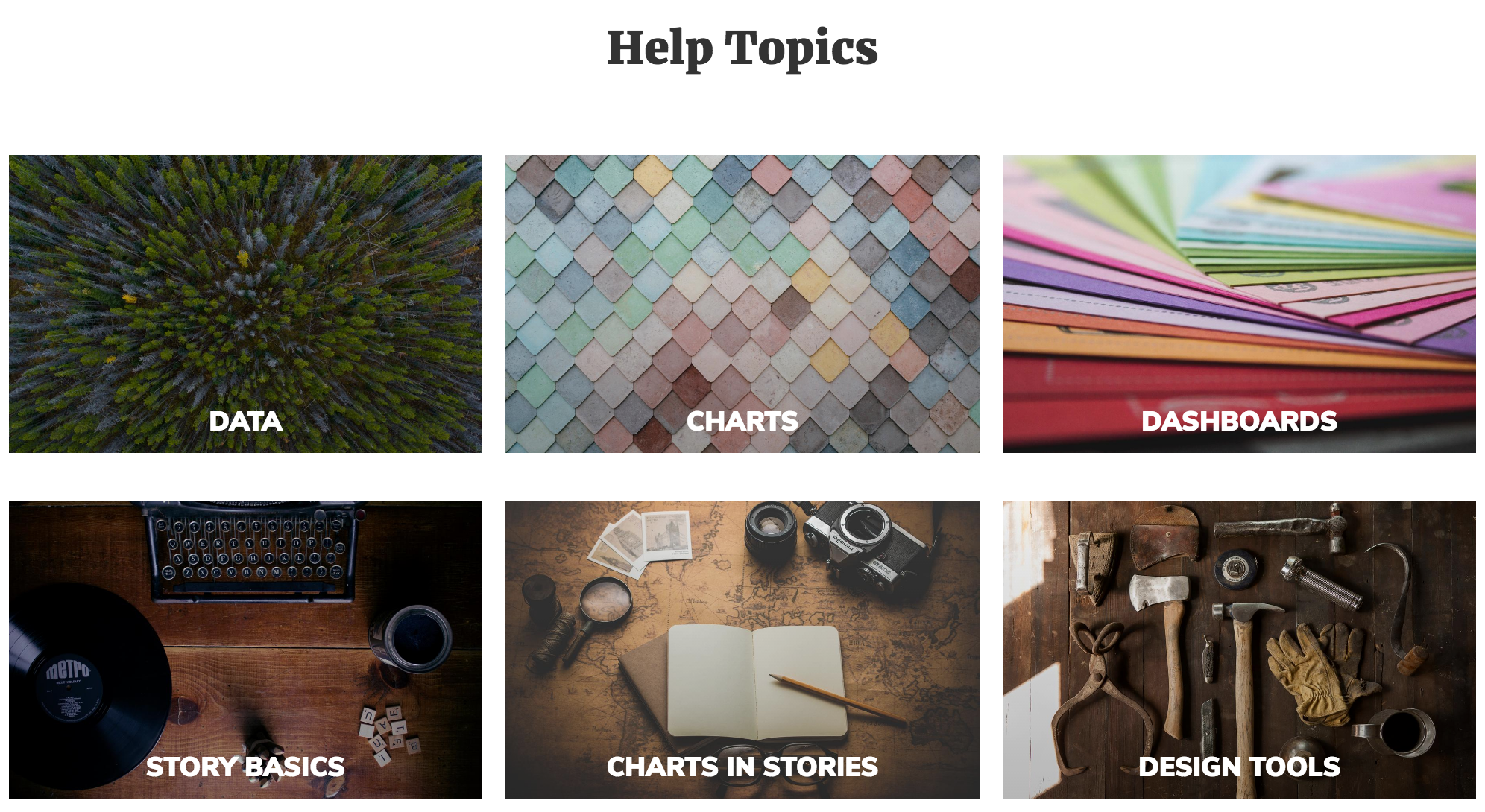 """""""Getting Started with LiveStories"""" is organized into six topics. Explore them one-by-one, or dive right into the topic that interests you."""