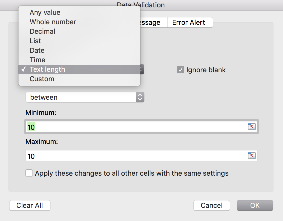 Select the function in the dropdown menu and follow the instructions.