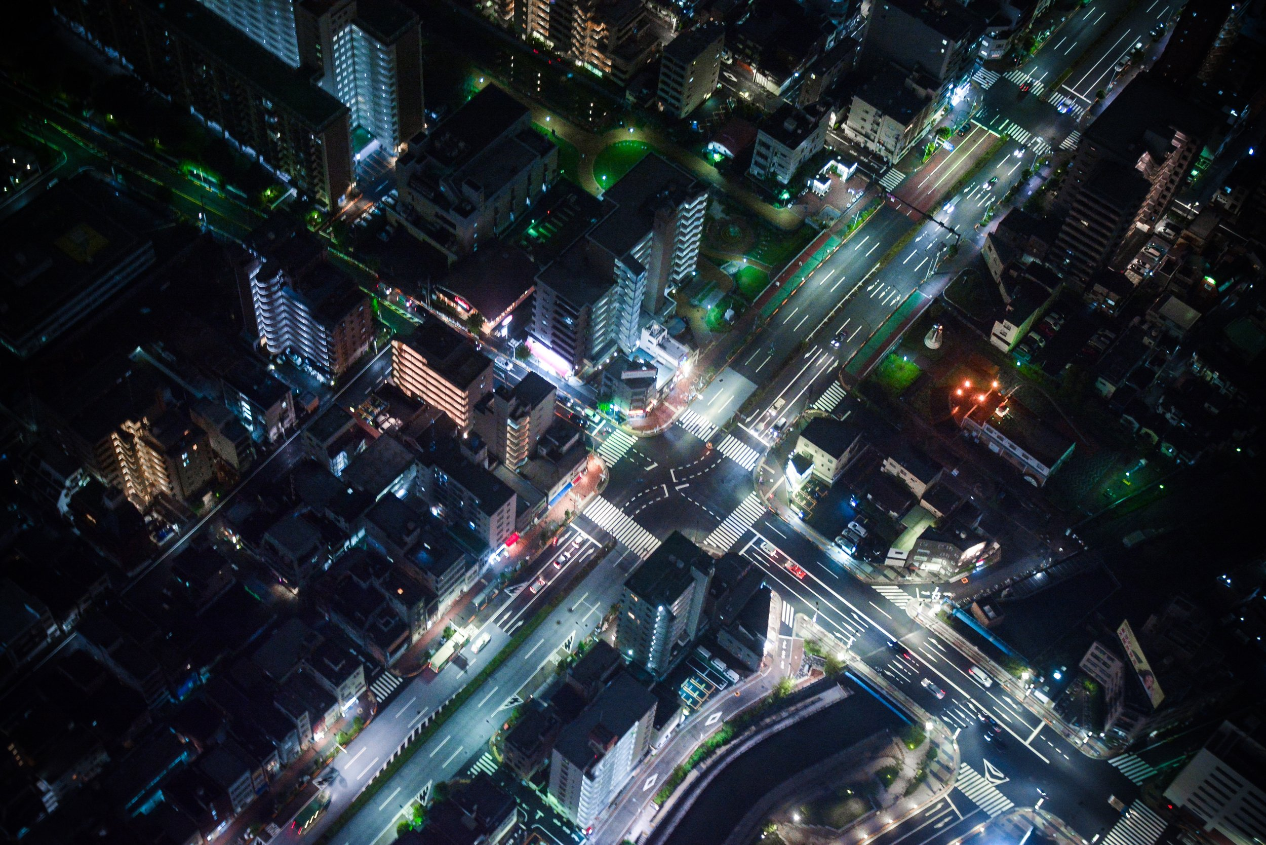 Buildings, streetlights, cars, phones, and keychain bobbles—practically all the things in this image—can now be connected to the Internet.