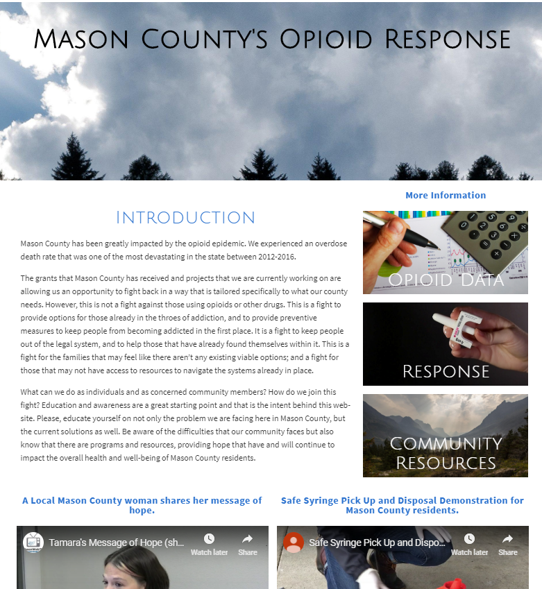 Opioid response page.