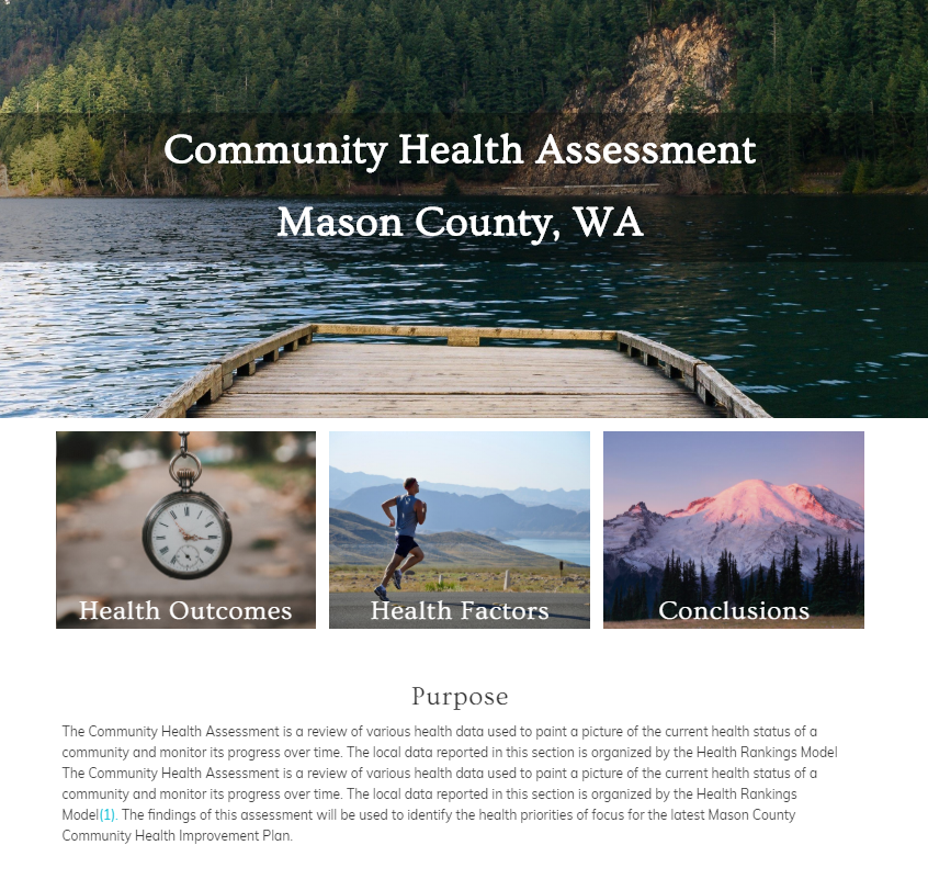 Community Health Assessment (CHA) page.