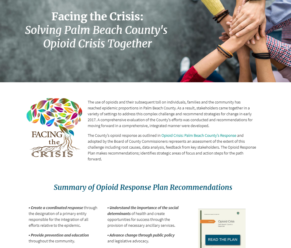 Palm Beach County's Opioid Crisis Report