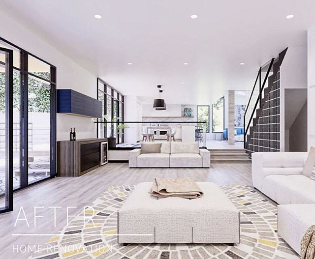 California dreaming! We are pleased to have worked with this wonderful family across the country! Check out this entire home renovation in Los Angeles, CA #interiordesign #homerenovation