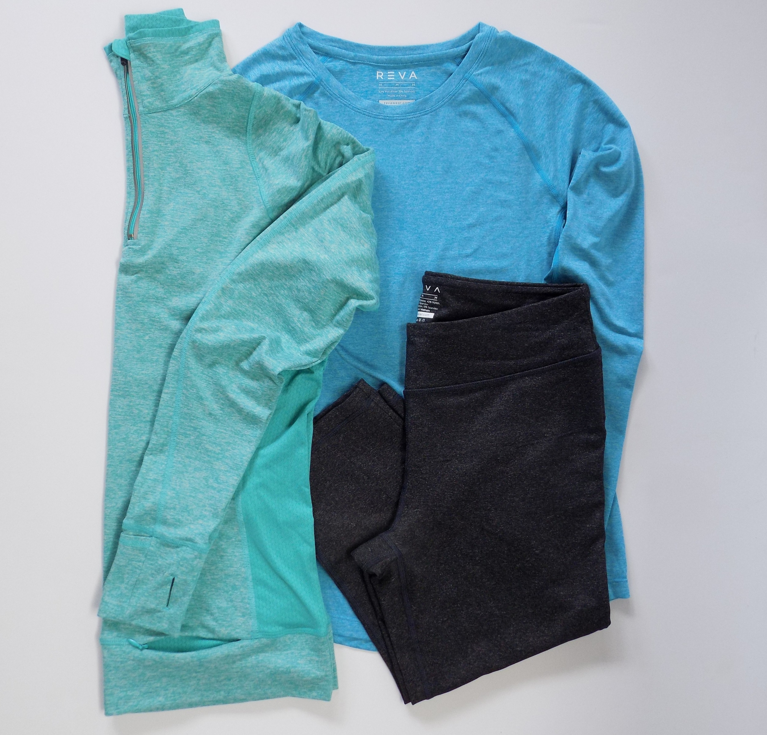 Reva Wear's Inspire Me Jacket, Challenge Me Long Sleeve Tee & Vitality Capri
