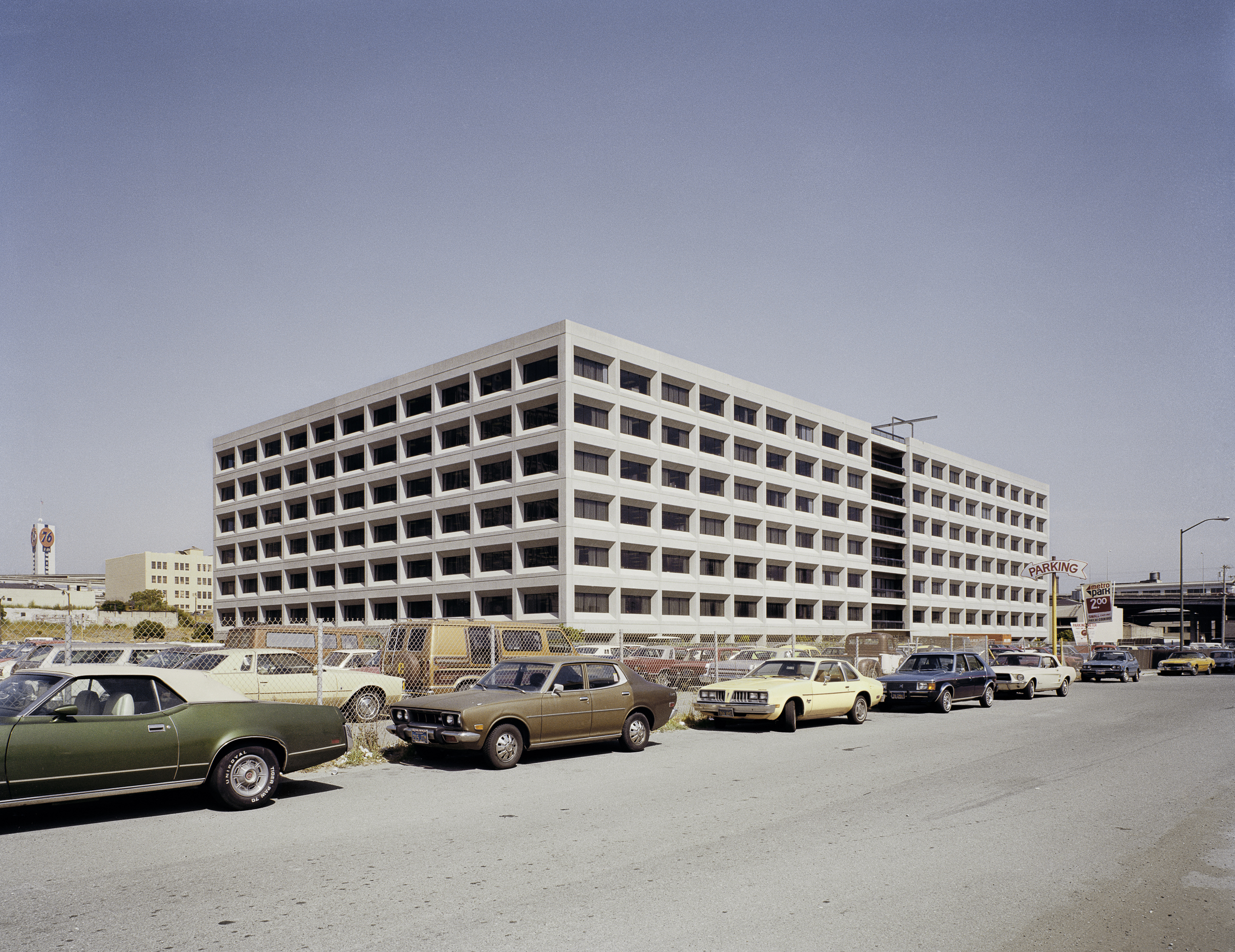 JANET DELANEY First Office Building in redevelopment zone, Lapu- Lapu Street, 1980 Archival Pigment Print, 2016  VAILABLE SIZES 16 x 20 inches, edition of 5 20 x 24 inches, edition of 2 30 x 40 inches, edition of 2