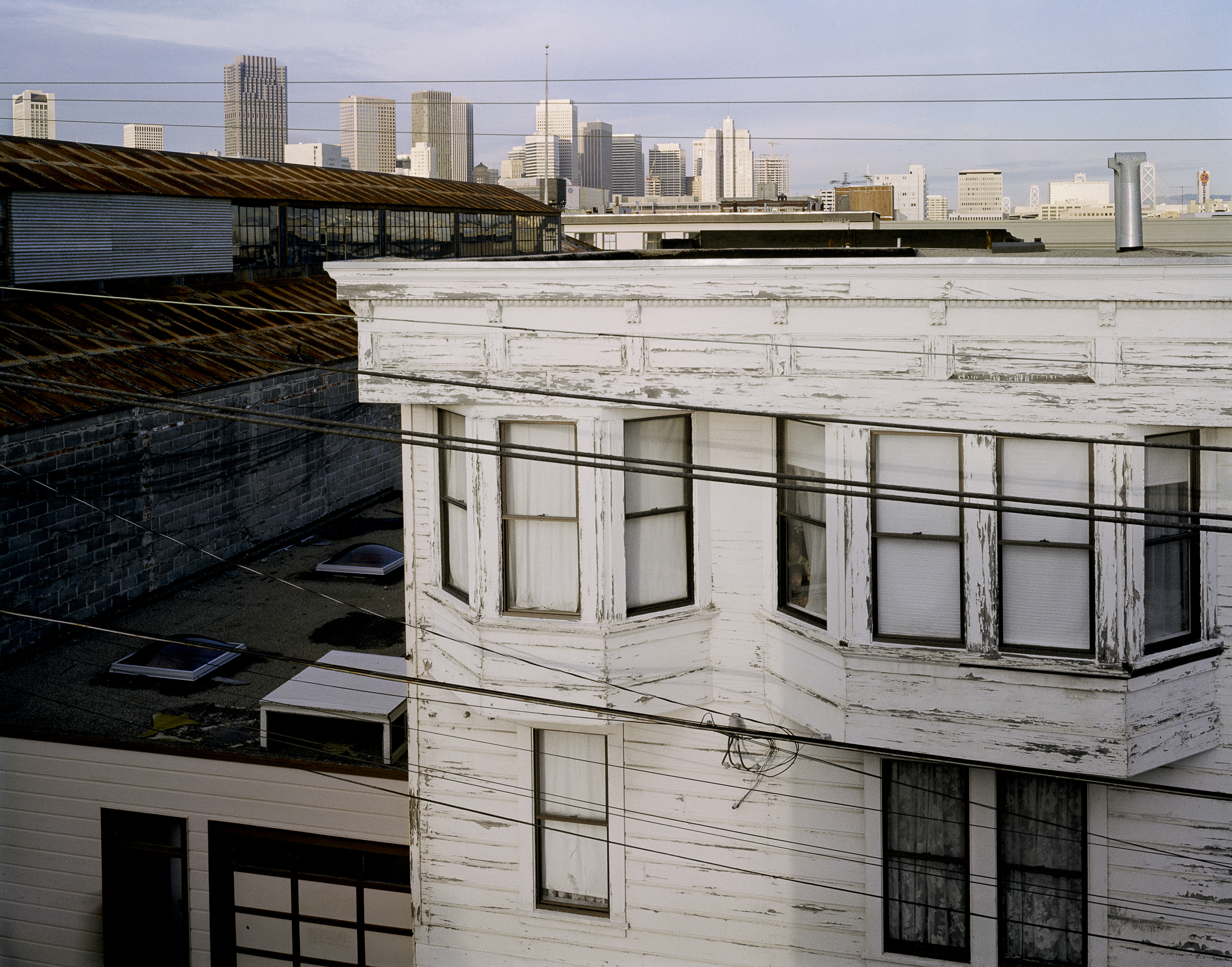 JANET DELANEY View of downtown from roof of 80 Langton Street, 1982 Archival Pigment Print, 2016 16 x 20 inches, edition of 5 20 x 24 inches, edition of 2 30 x 40 inches, edition of 2