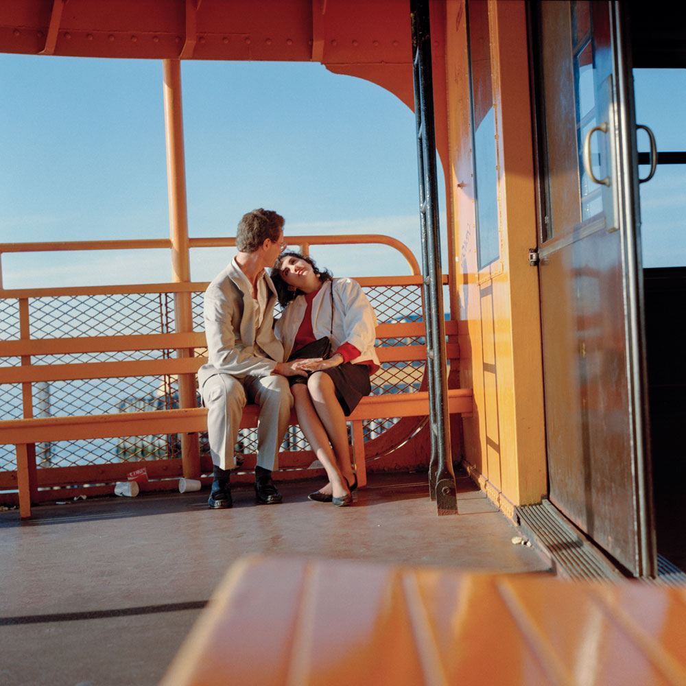 JANET DELANEY 6am on the Staten Island Ferry, 1985 from New York City 1984-1987 Archival Pigment Print 15 x 15 inches, edition of 5 24 x 24 inches, edition of 2