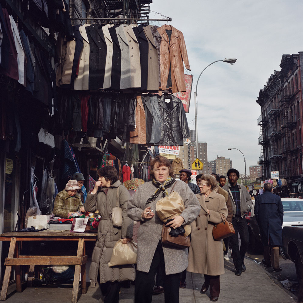 JANET DELANEY Coats for Sale, 1984 from New York City 1984-1987 Archival Pigment Print 15 x 15 inches, edition of 5 24 x 24 inches, edition of 2