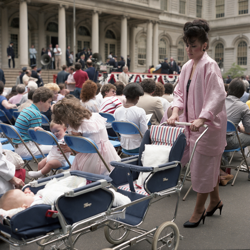JANET DELANEY Event at City Hall, 1985 from New York City 1984-1987 Archival Pigment Print 15 x 15 inches, edition of 5 24 x 24 inches, edition of 2