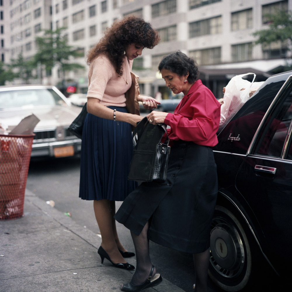 JANET DELANEY Mother and Daughter, 1985 from New York City 1984-1987 Archival Pigment Print 15 x 15 inches, edition of 5 24 x 24 inches, edition of 2